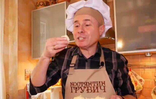 Салат з плавлених сирків від Костянтина Грубича, кадр з відео
