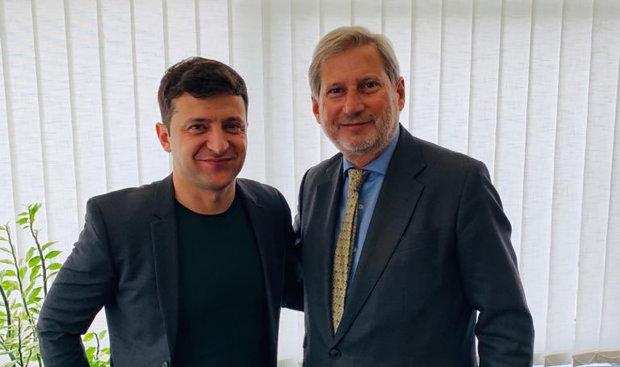 Володимир Зеленський та Йоханнес Хан