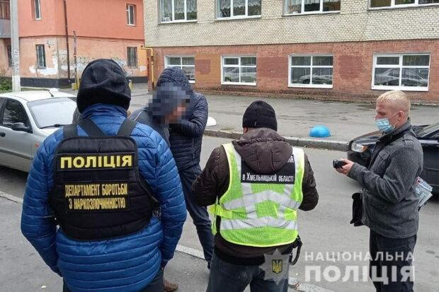 У Хмельницькому затримали наркоторговця, фото Facebook Поліція Хмельницької області