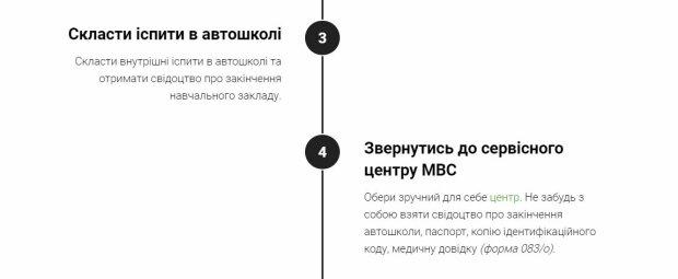 Алгоритм дій, скріншот: hsc.gov.ua