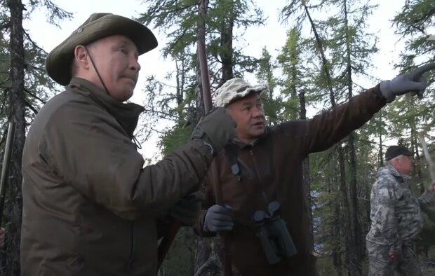 Скрин, видео YouTube Путин и Шойгу