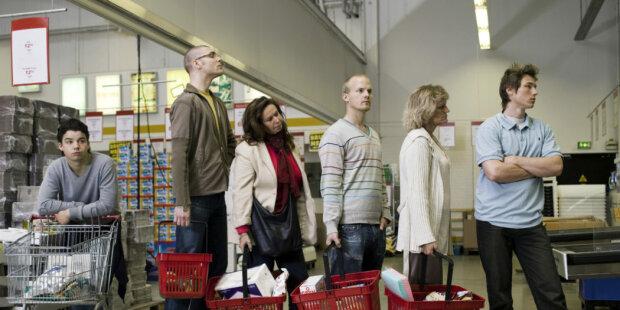 Очередь в супермаркете, Иллюстративное фото