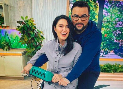 """Руслан Сеничкин посадил Любмилу Барбир на свой велосипед: """"Не сдержался"""""""