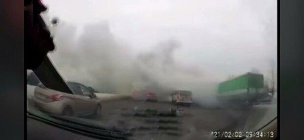 Дым на Окружной, фото: скриншот из видео