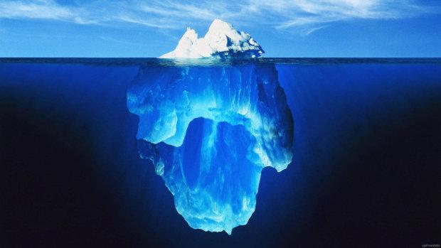 Сорок років за хвилину: велику подорож айсбергів показали на відео