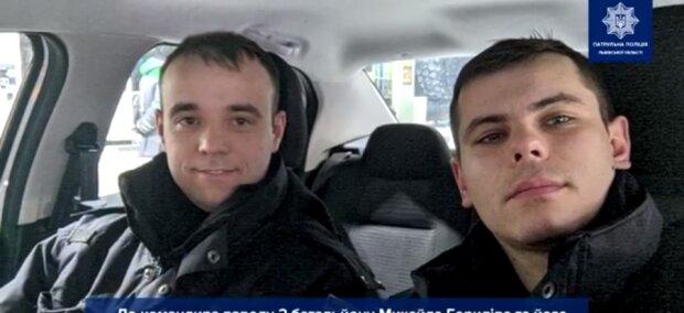 """Львівські копи стали янголами-охоронцями для майбутньої матусі: """"Допоможіть, дружина народжує!"""""""
