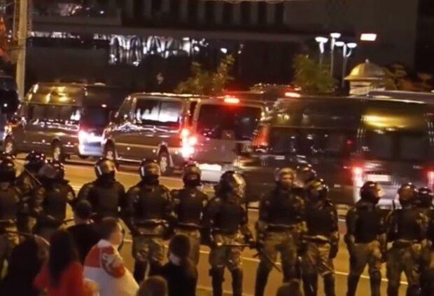 Милиция в Беларуси, скриншот видео