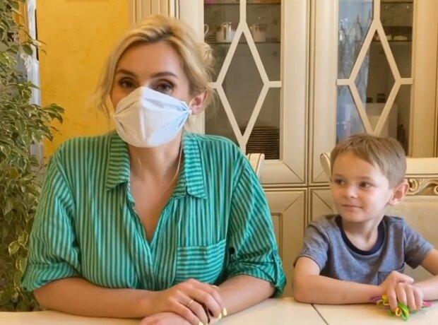 Ірина Федишин з сином, скрін з відео