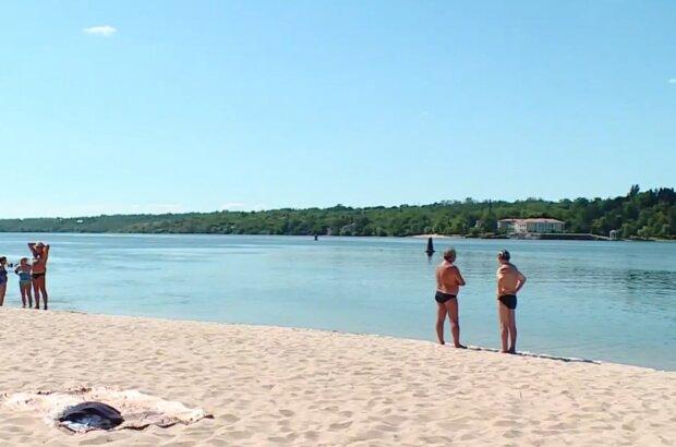 Украинские пляжи, скриншот из видео