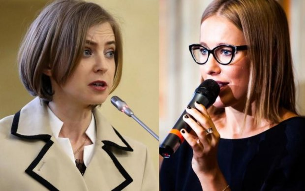 Собчак і Поклонська влаштували баттл за Крим