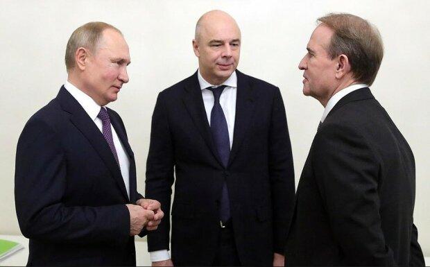 Медведчук і Путін, прес-служба ОПЗЖ