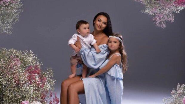 Илона Гвоздева с детьми, фото с Instagram