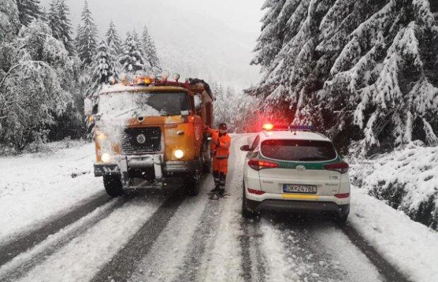 Сніг у Словаччині, скріншот
