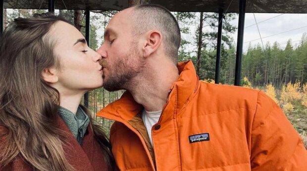 Лілі Коллінз з чоловіком, фото: Instagram
