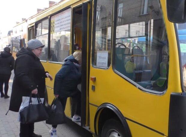 общественный транспорт, скриншот с видео
