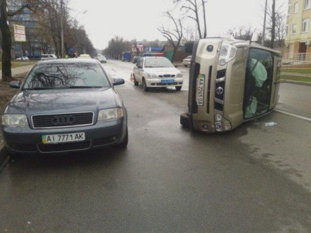 У Києві  сталась аварія через кішку