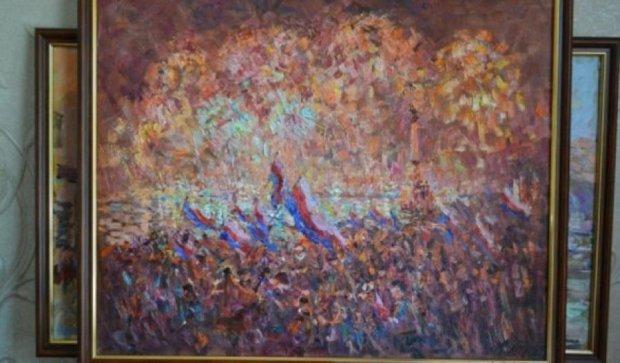 На конкурсі в Криму перемогла картина з нацистськими прапорами
