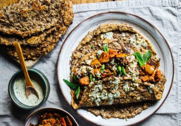 Грибні млинці, фото: Вегетаріанські рецепти / Телеграм