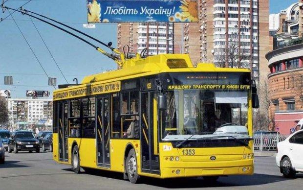 Киевлянам вернули популярный троллейбусный маршрут