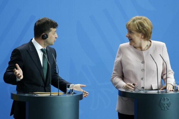 Володимир Зеленський і Ангела Меркель, фото: AFP