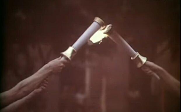 Олимпийский огонь, скриншот из видео