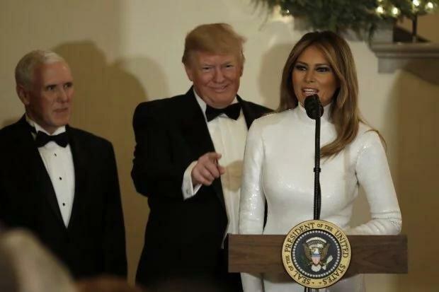 Мелания Трамп поразила высшее общество США в канун Рождества, фото