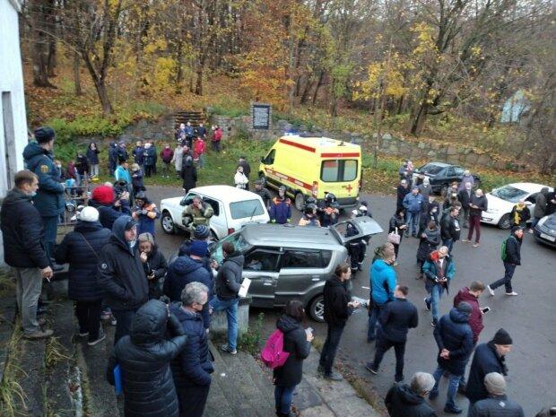аварія в Холмогорівці, скріншот з відео