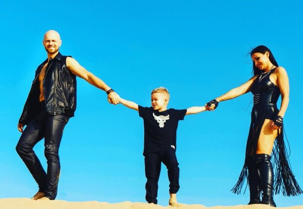Влад Яма з дружиною і сином, фото з Instagram