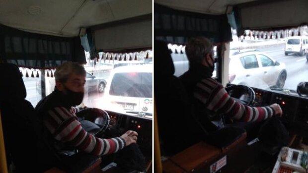 """В Киеве быдло-маршрутчик набросился на дедушку с внуками, пассажиры онемели от наглости: """"Не*рен было  столько рожать!"""""""