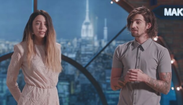Надя Дорофеева и Вова Дантес, скрин из видео