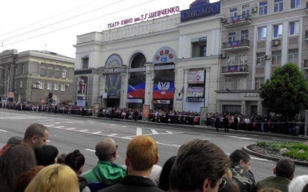 Звуки кулемета та вибухи наполохали окупований Донецьк