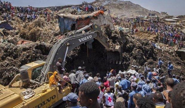 Оползень на свалке убил более полусотни эфиопов