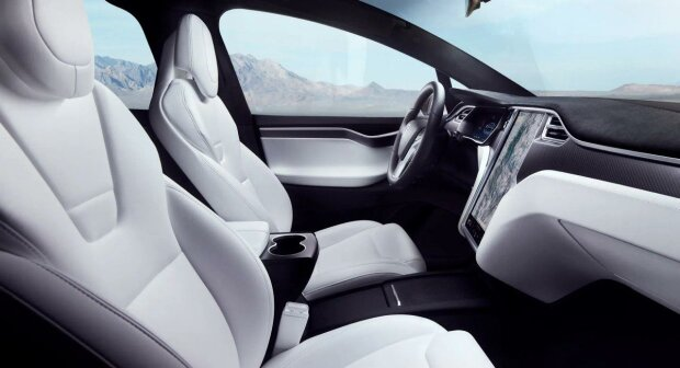Tesla Model X, скриншот