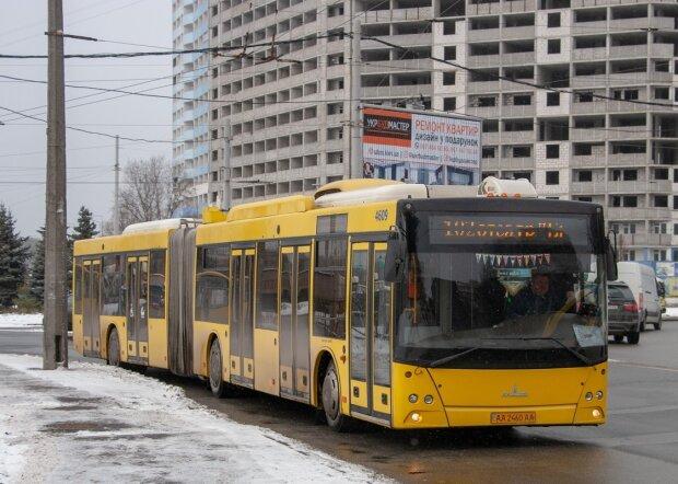 Громадський транспорт, мороз - фото з Фейсбук
