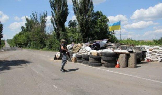 Национальная полиция разбирает блокпосты под Луганском