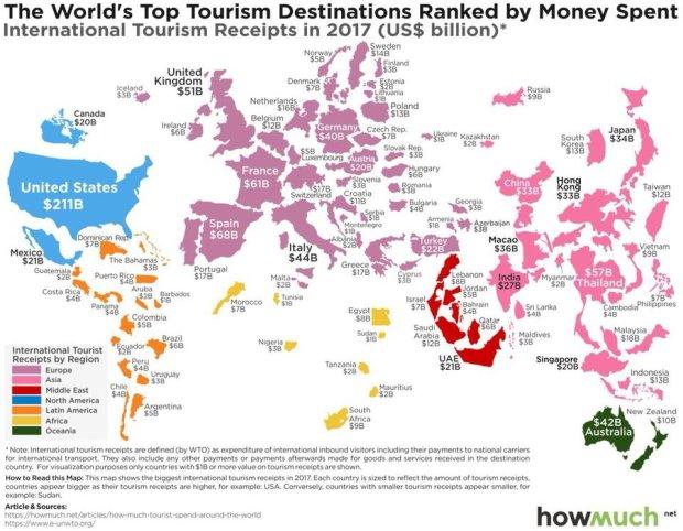 Де найбільше витрачають туристи: список країн