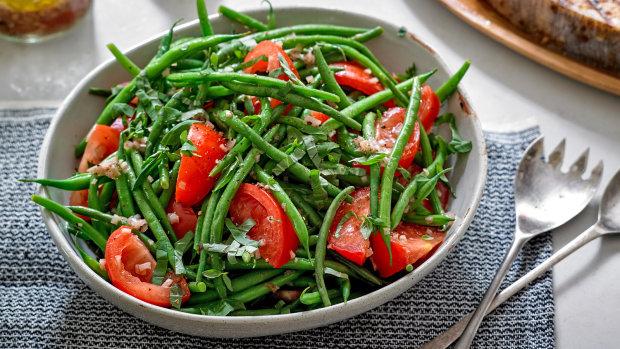 Рецепт свіжого салату з зеленими бобами
