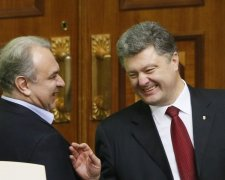 Давид Жванія та Петро Порошенко