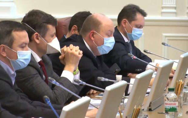 Засідання уряду, скріншот відео