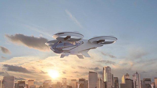 Летающее такси будущего показали в сети: видео перевернет ваше представление о реальности