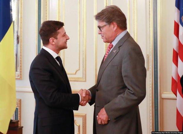 глава делегации США Рик Перри и президент Украины Владимир Зеленский