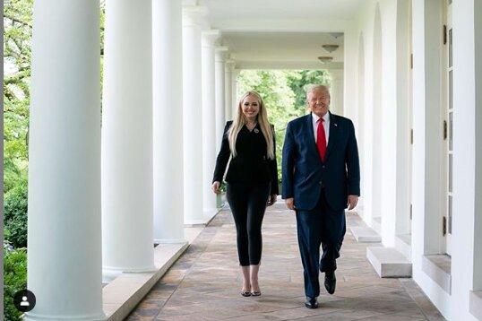 Дональд Трамп з дочкою Тіффані, Фото Instagram