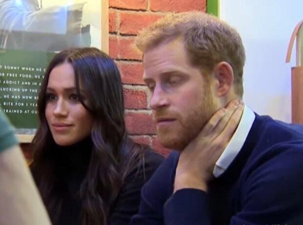 Меган Маркл и принц Гарри, кадр из видео