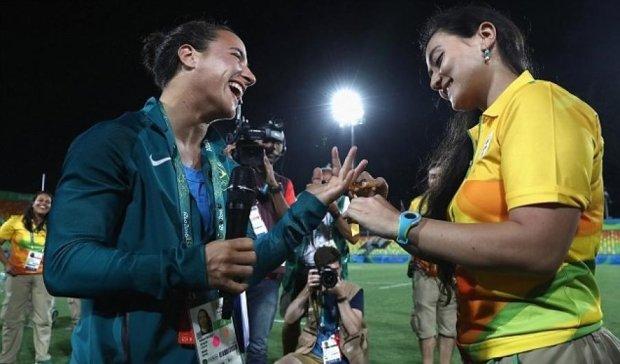 Олімпійська спортсменка одружиться з коханою (ФОТО)