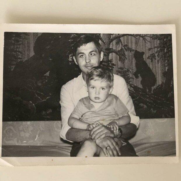 Олександр Пономарьов з батьком, фото з Instagram