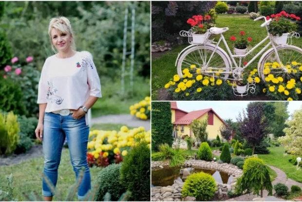 """Тернополянка создала """"райский сад"""" своими руками и прославилась на всю Украину: """"Молодожены мечтают сделать фото"""""""