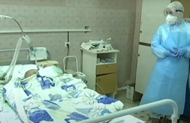 Дитина страждає від коронавірусу, кадр з репортажу Україна: YouTube