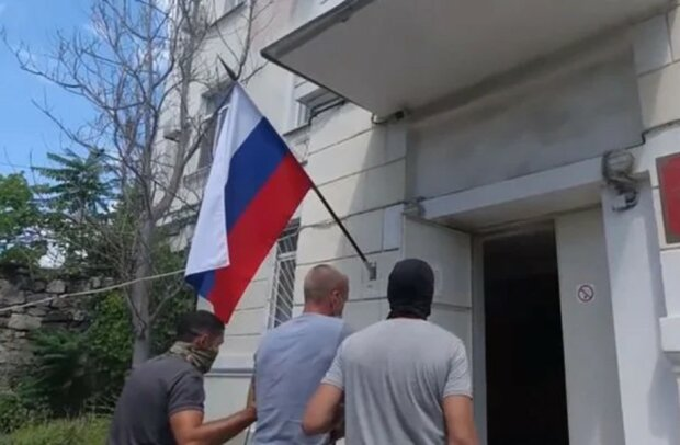 Затримання моряка ФСБ, скріншот відео