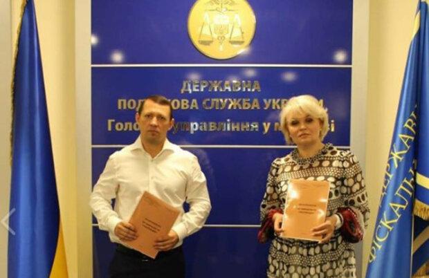 начальник ГУ ГНС в г. Киеве Злата Лагутина и Председатель теротделения ВОО АППУ Павел Погиба