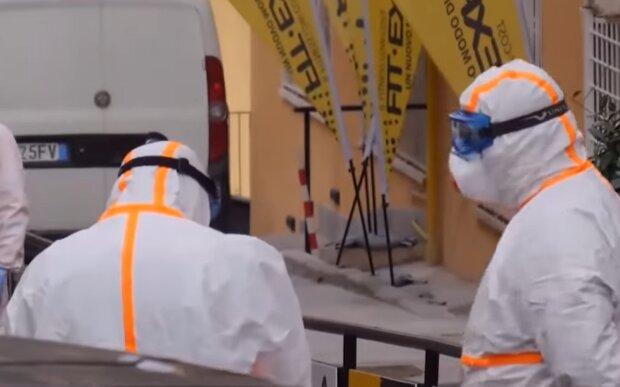 Коронавирус в Италии, скриншот: YouTube